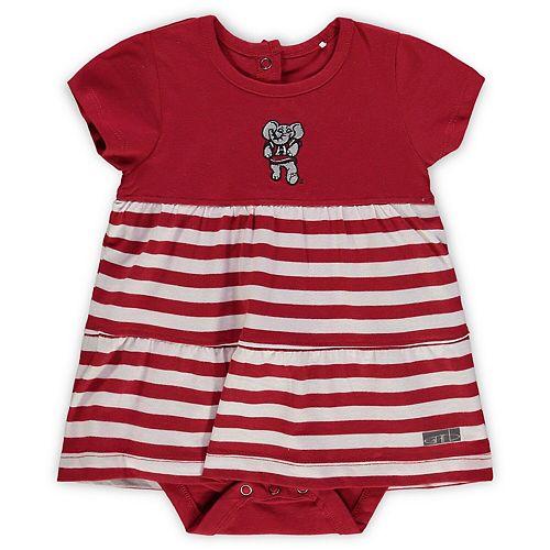 Girls Infant Garb Crimson Alabama Crimson Tide Lizia Stripe Dress
