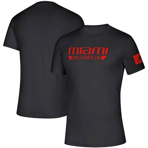 Men's adidas Black Miami Hurricanes 2019 Sideline Practice climalite Creator T-Shirt