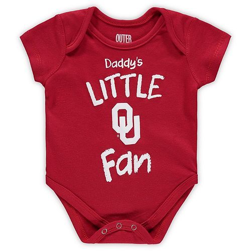Infant Crimson Oklahoma Sooners Daddy's Little Fan Creeper