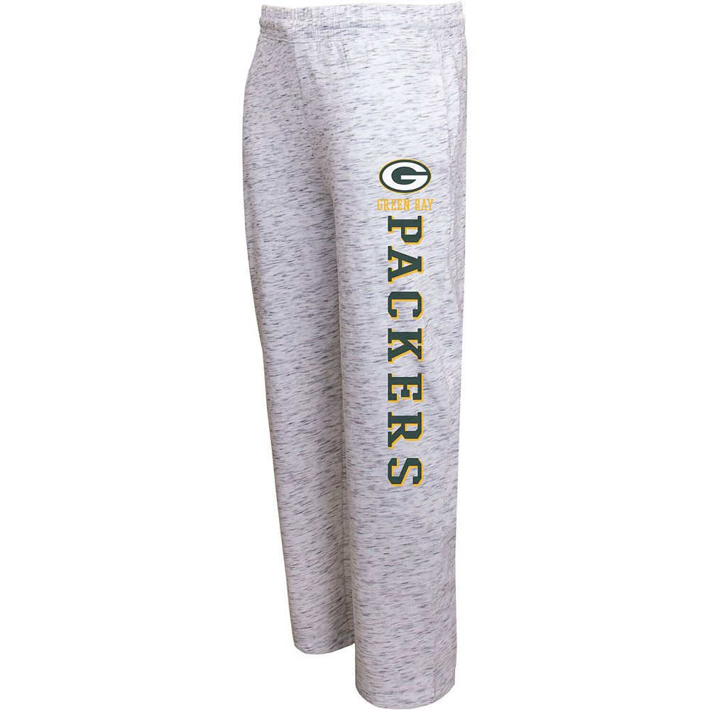 Men's Concepts Sport Heathered Gray Green Bay Packers Alley Space Dye Pants