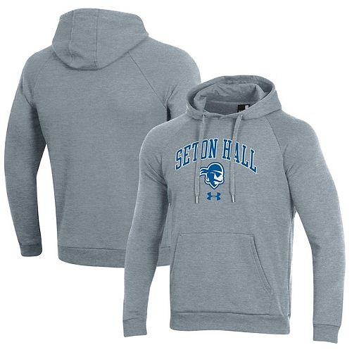 Men's Under Armour Heathered Gray Seton Hall Pirates Arched Pullover Hoodie