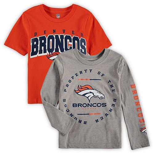Preschool Orange/Heathered Gray Denver Broncos Club T-Shirt Combo Set