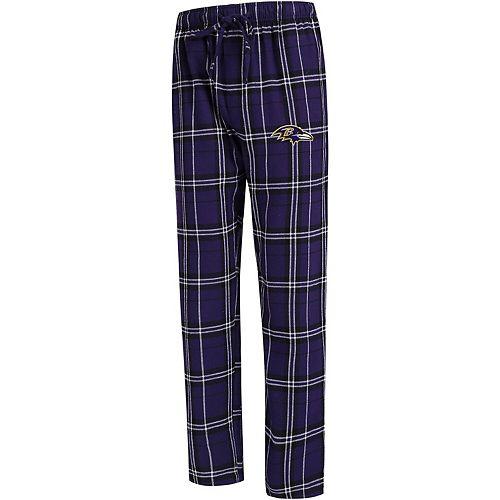 Men's Concepts Sport Purple Baltimore Ravens Big & Tall Hillstone Flannel Pants