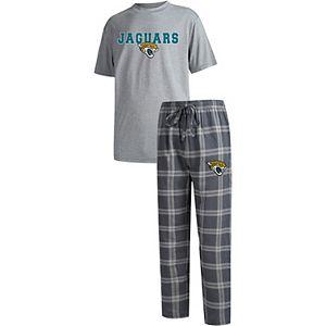 Men's Concepts Sport Charcoal/Heathered Gray Jacksonville Jaguars Big & Tall Troupe T-Shirt & Pants Sleep Set