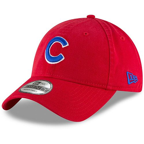 Men's New Era Red Chicago Cubs Core Classic Secondary 9TWENTY Adjustable Hat