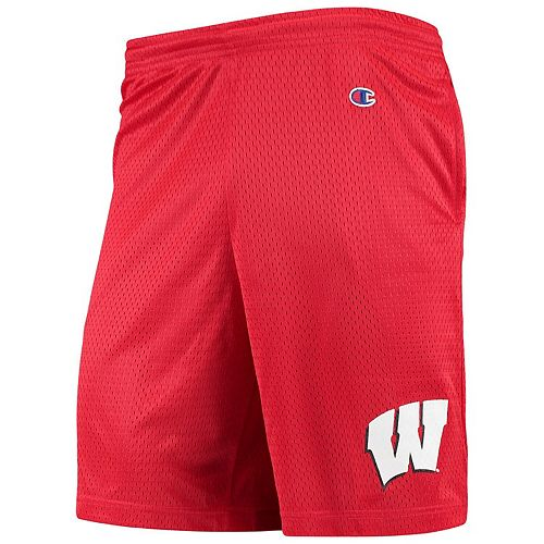 Men's Champion Red Wisconsin Badgers College Mesh Shorts