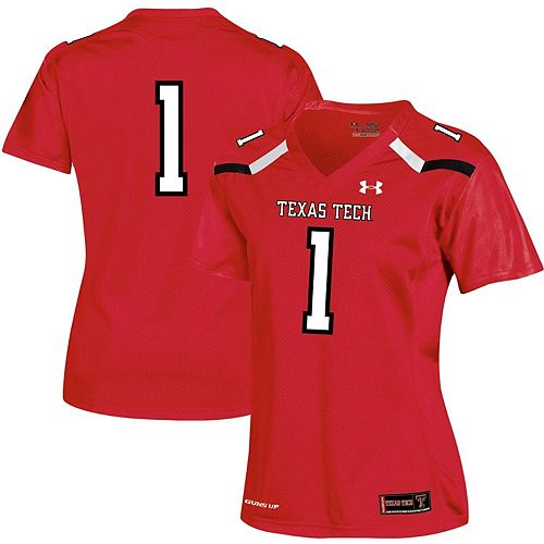 Women's Under Armour #1 Red Texas Tech Red Raiders Team Replica Football Jersey