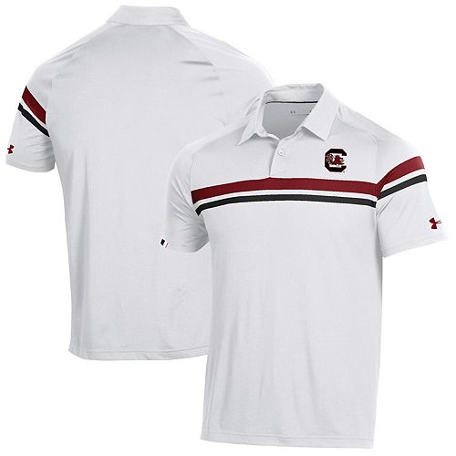 South Carolina Gamecocks Under Armour 2019 Sideline Tour Drive Coaches Polo - White