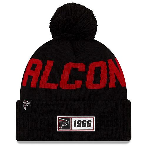 Men's New Era Black Atlanta Falcons 2019 NFL Sideline Road Official Sport Knit Hat