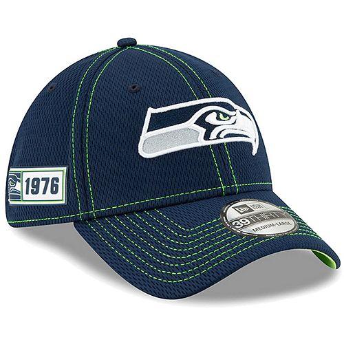 Youth New Era Navy Seattle Seahawks 2019 NFL Sideline Road 39THIRTY Flex Hat