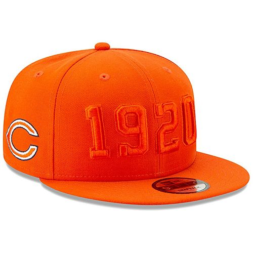 Men's New Era Orange Chicago Bears 2019 NFL Sideline Color Rush C Alternate 9FIFTY Adjustable Snapback Hat