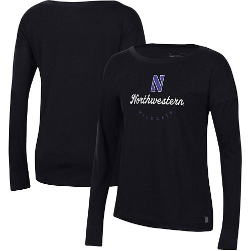 Women's Under Armour Black Northwestern Wildcats Logo Performance Long Sleeve T-Shirt