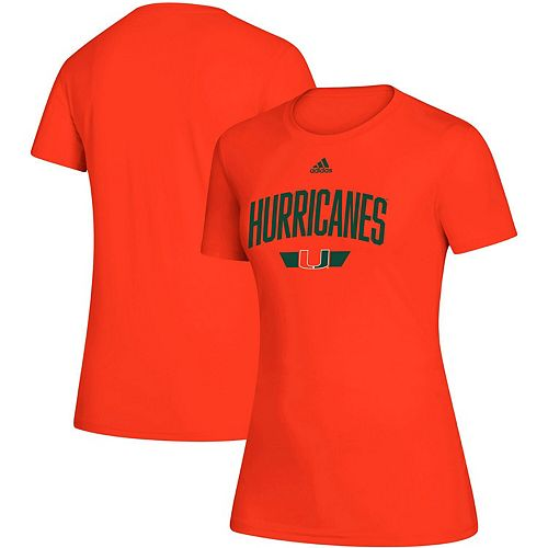 Women's adidas Orange Miami Hurricanes Locker Arched T-Shirt