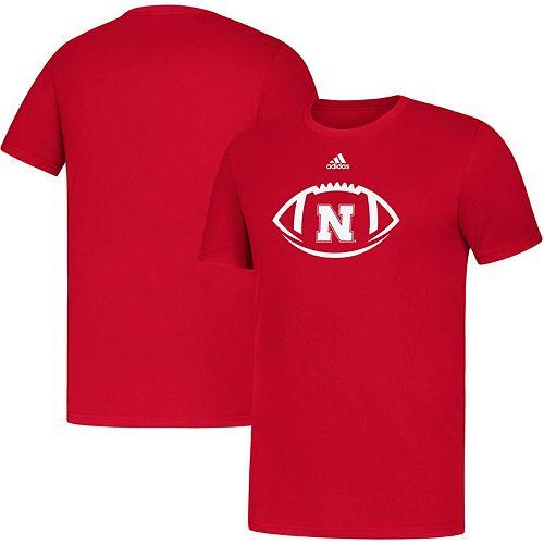 Youth adidas Scarlet Nebraska Cornhuskers Locker Football Icon Amplifier T-Shirt