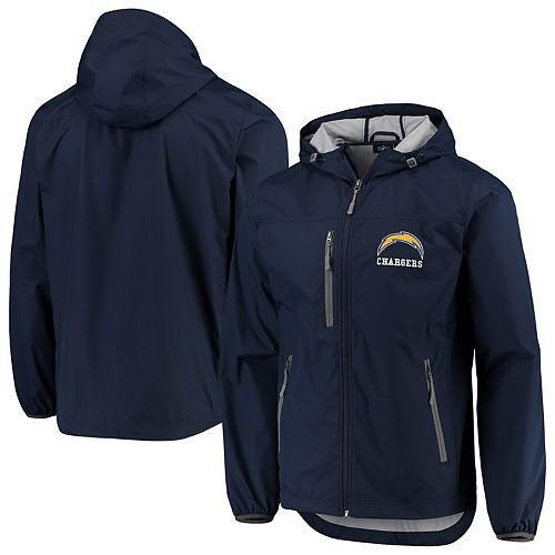 Men's G-III Sports by Carl Banks Navy Los Angeles Chargers Double Play Full-Zip Jacket