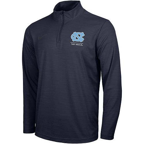 Men's Nike Navy North Carolina Tar Heels Intensity Quarter-Zip Pullover Performance Jacket