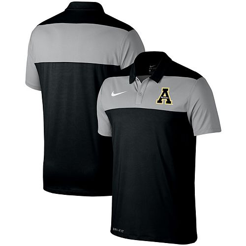 Appalachian State Mountaineers Nike Color Block Performance Polo - Black