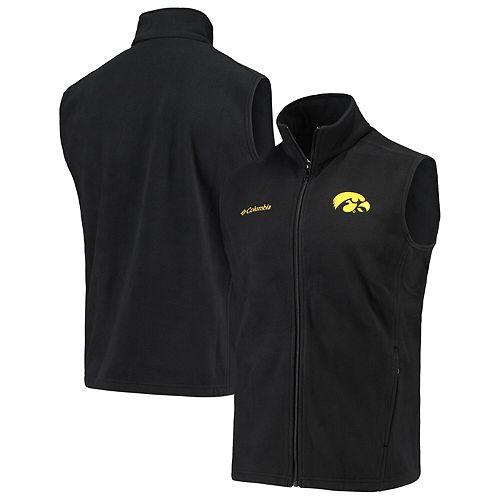 Men's Columbia Black Iowa Hawkeyes Flanker II Full-Zip Vest