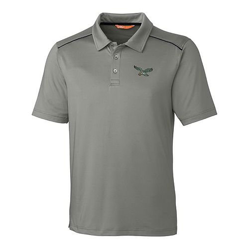 Philadelphia Eagles CBUK by Cutter & Buck Throwback Chance Polo - Gray