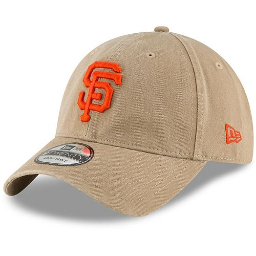 Men's New Era Khaki San Francisco Giants Core Classic Secondary 9TWENTY Adjustable Hat
