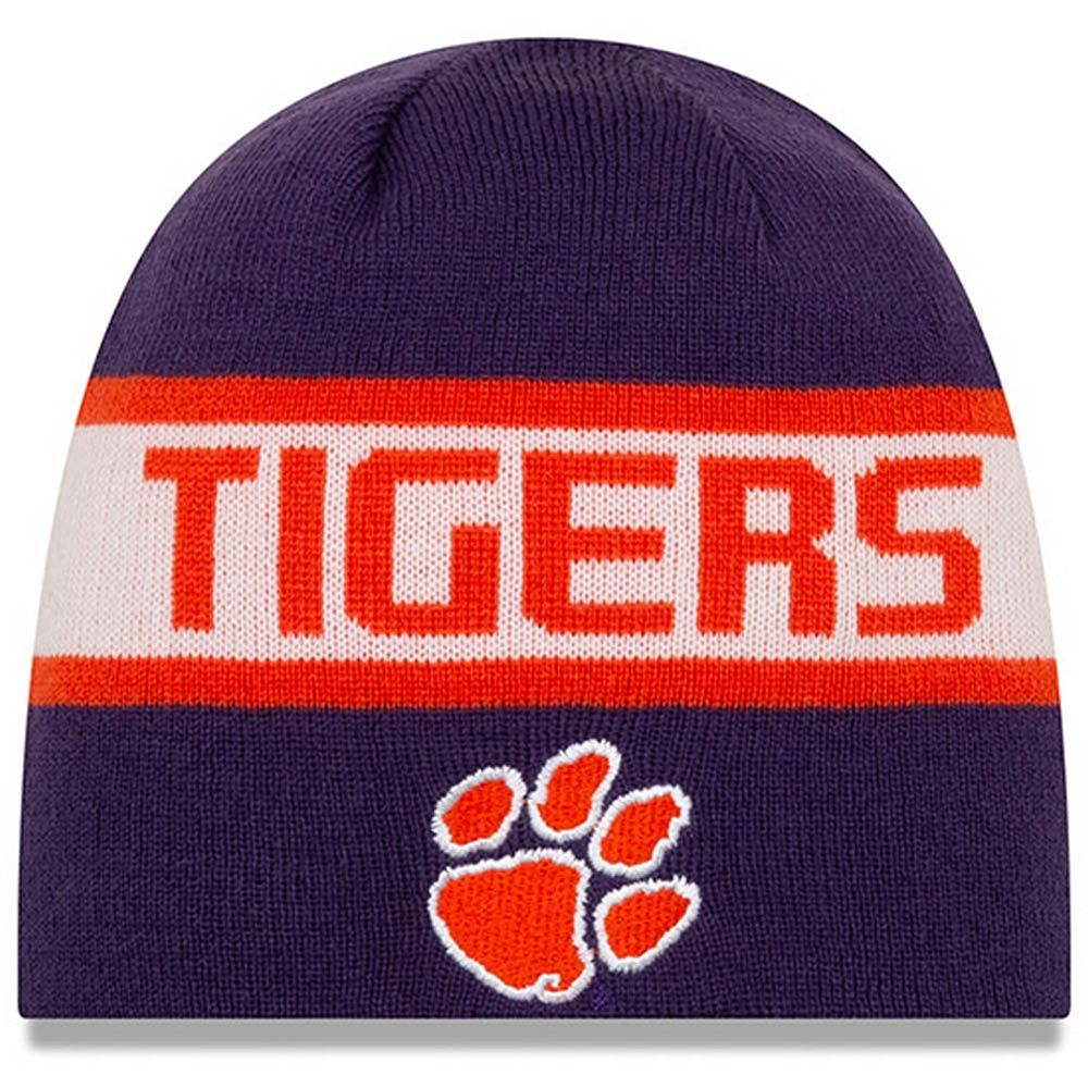 Men's New Era Orange Clemson Tigers Reversible Knit Beanie