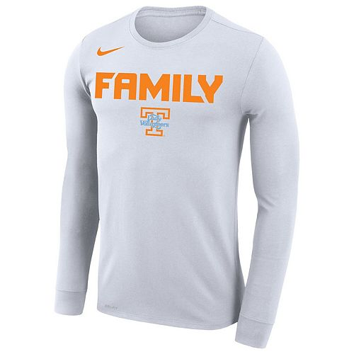 Men's Nike White Tennessee Lady Vols March Madness Family on Court Legend Basketball Performance Long Sleeve T-Shirt