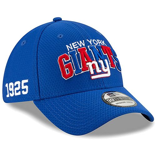 Men's New Era Royal New York Giants 2019 NFL Sideline Home Alternate 39THIRTY 1990s Flex Hat