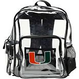 The Northwest Miami Hurricanes Dimension Clear Backpack
