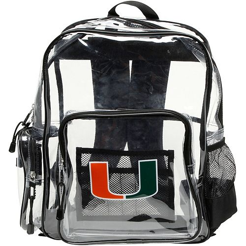 The Northwest Company Miami Hurricanes Dimension Clear Backpack