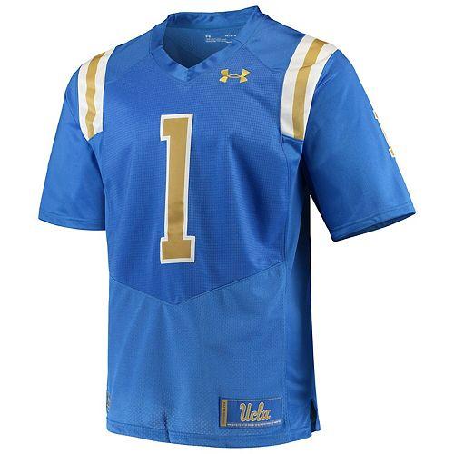 Men's Under Armour #1 Blue UCLA Bruins Premier Football Jersey