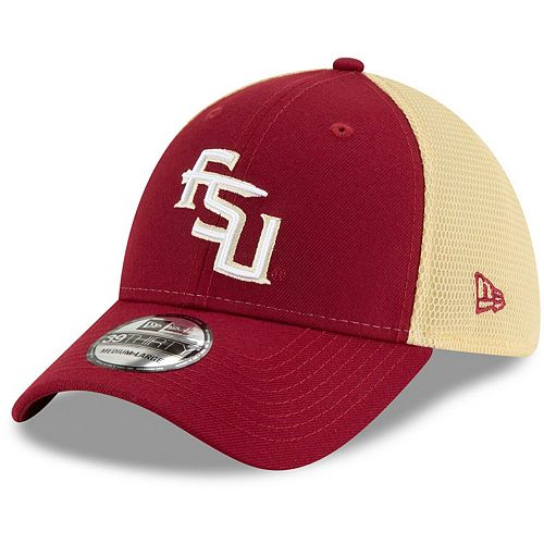 Men's New Era Garnet Florida State Seminoles Two-Tone Sided 39THIRTY Flex Hat