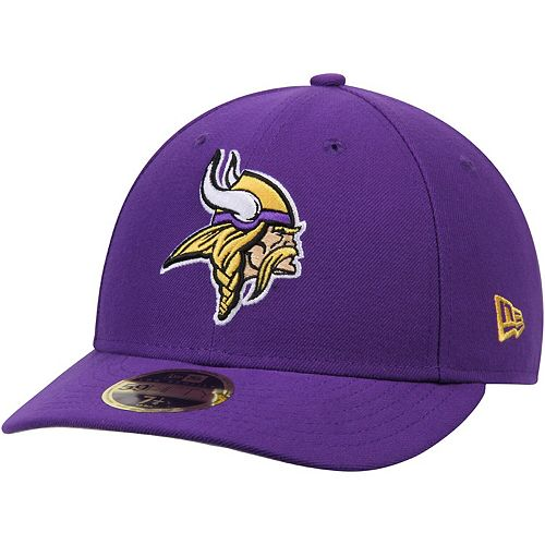 Men's New Era Purple Minnesota Vikings Omaha Low Profile 59FIFTY Structured Hat