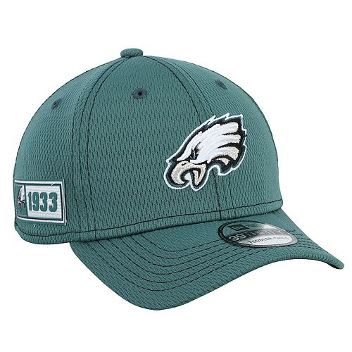 Toddler New Era Green Philadelphia Eagles 2019 NFL Sideline Road 39THIRTY Flex Hat