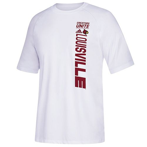 Men's adidas White Louisville Cardinals March Madness Bench T-Shirt