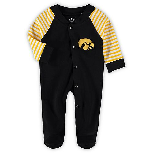 Infant Black Iowa Hawkeyes Little Snap Sleeper