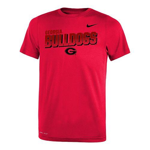 Youth Nike Red Georgia Bulldogs Legend Lift Sideline Performance T-Shirt