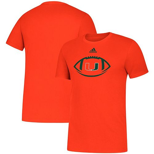 Men's adidas Orange Miami Hurricanes Sideline Locker Football Icon Amplifier T-Shirt