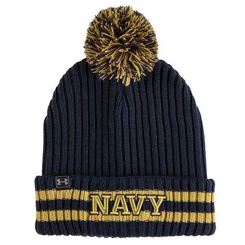 Men's Under Armour Navy Navy Midshipmen 150 Seasons Fundamental Cuffed Knit Hat