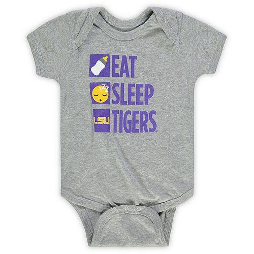 Infant Heathered Gray LSU Tigers Daily Agenda Creeper