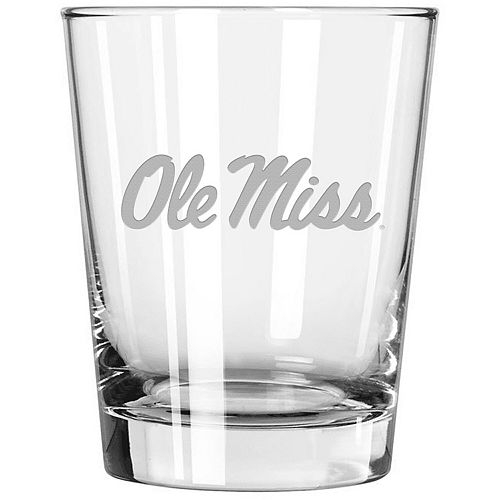 Ole Miss Rebels 15oz. Etched Double Old Fashioned Glass
