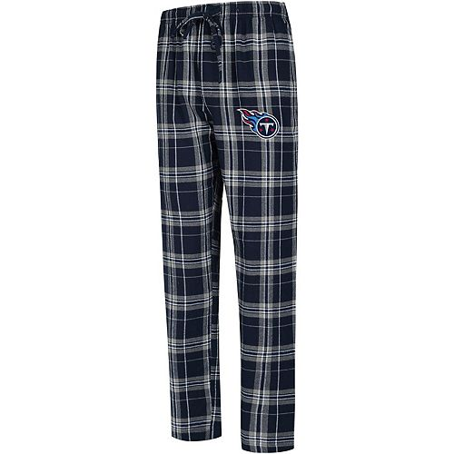 Men's Concepts Sport Navy Tennessee Titans Big & Tall Hillstone Flannel Pants