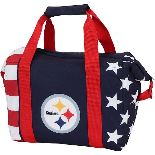 Pittsburgh Steelers Twelve-Pack American Flag Cooler