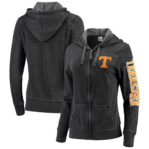 Women's Heathered Charcoal Tennessee Volunteers Rally Enzyme Washed Full-Zip Hoodie