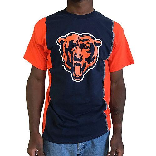 Men's Refried Apparel Navy/Orange Chicago Bears Upcycled Split T-Shirt