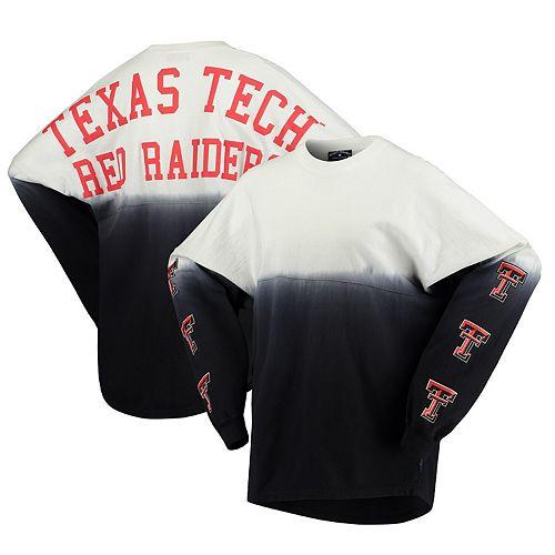 Women's Black Texas Tech Red Raiders Sleeve Repeat Logo Long Sleeve T-Shirt