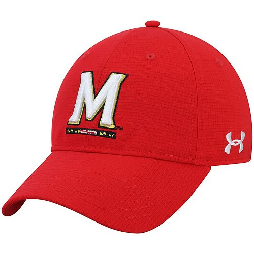 Men's Under Armour Red Maryland Terrapins Sideline Airvent Performance Adjustable Hat