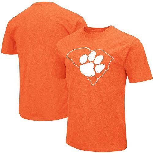 Men's Colosseum Orange Clemson Tigers Outline T-Shirt