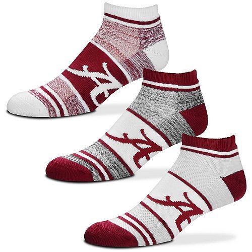 For Bare Feet Alabama Crimson Tide Triplex Heathered 3-Pack Sock Set
