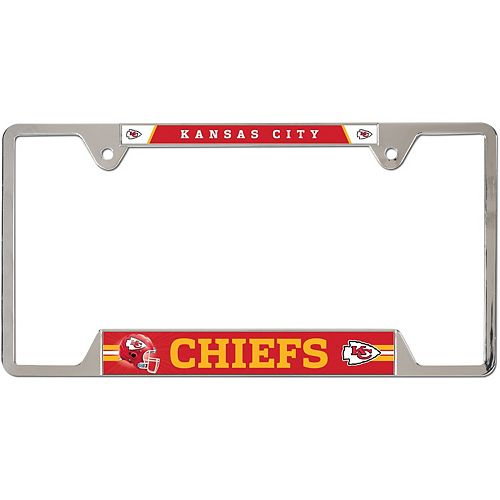 WinCraft Kansas City Chiefs Chrome Plated Metal License Plate Frame