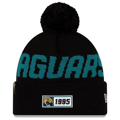 Men's New Era Black Jacksonville Jaguars 2019 NFL Sideline Road Official Sport Knit Hat
